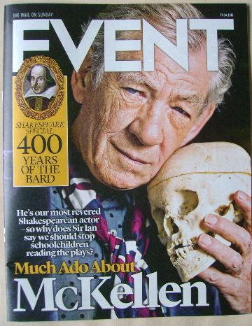 <!--2016-04-17-->Event magazine - Sir Ian McKellen cover (17 April 2016)