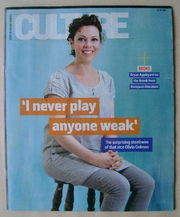 <!--2016-02-14-->Culture magazine - Olivia Colman cover (14 February 2016)