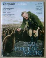 <!--2016-05-07-->Telegraph magazine - Sir David Attenborough cover (7 May 2016)