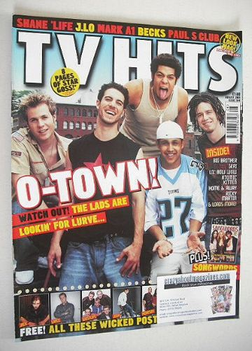 <!--2001-08-->TV Hits magazine - August 2001 - O-Town cover