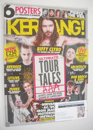 <!--2016-05-14-->Kerrang magazine - Tour Tales cover (14 May 2016 - Issue 1
