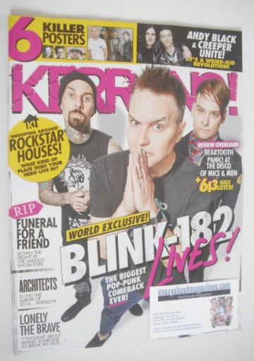 <!--2016-06-04-->Kerrang magazine - Blink 182 cover (4 June 2016 - Issue 16