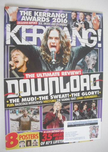 Kerrang Magazine Download Cover 18 June 2016 Issue 1624