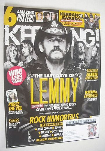 <!--2016-06-25-->Kerrang magazine - Lemmy cover (25 June 2016 - Issue 1625)