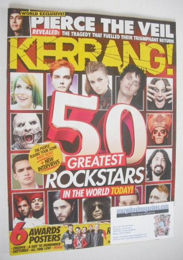 <!--2016-07-02-->Kerrang magazine - 50 Greatest Rock Stars In The World Tod