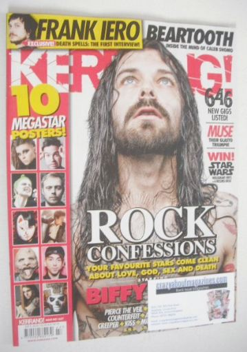 <!--2016-07-09-->Kerrang magazine - Biffy Clyro cover (9 July 2016 - Issue