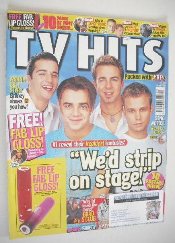 <!--2002-02-->TV Hits magazine - February 2002 - A1 cover