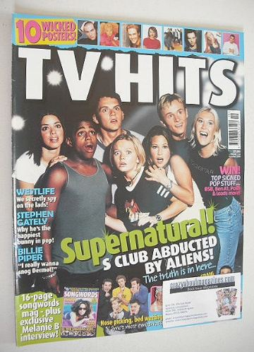 <!--2000-10-->TV Hits magazine - October 2000 - S Club 7 cover