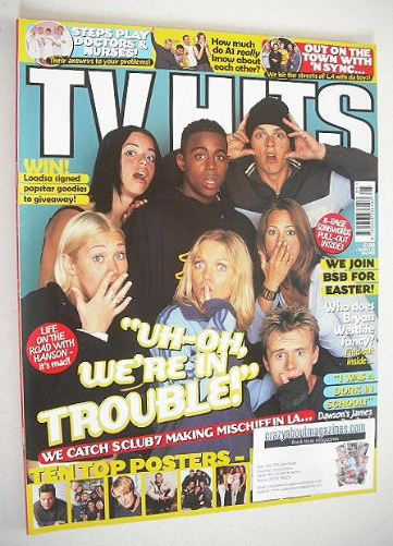 <!--2000-05-->TV Hits magazine - May 2000 - S Club 7 cover