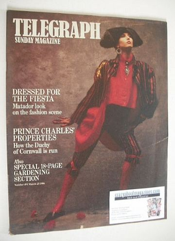 <!--1986-03-23-->The Sunday Telegraph magazine - Matador Look cover (23 Mar