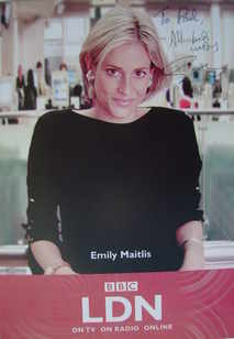 Emily Maitlis autograph (hand-signed photograph, dedicated)