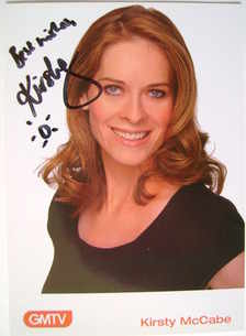 Kirsty McCabe autograph