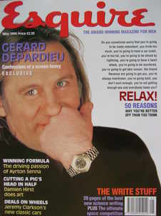 Esquire magazine - Gerard Depardieu cover (May 1994)