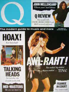Q magazine - Tina Turner cover (April 1988)