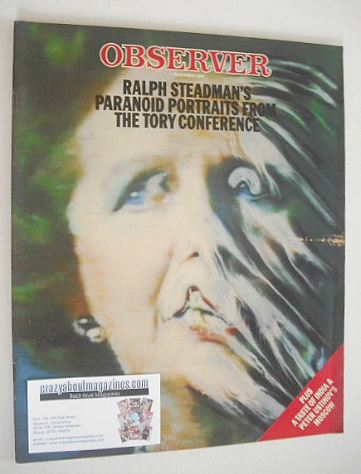 <!--1985-10-20-->The Observer magazine - Margaret Thatcher cover (20 Octobe