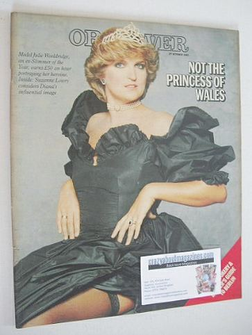 <!--1985-10-27-->The Observer magazine - Julie Wooldridge cover (27 October