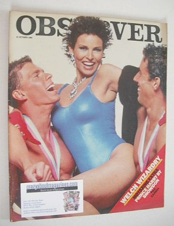 <!--1984-10-21-->The Observer magazine - Raquel Welch cover (21 October 198
