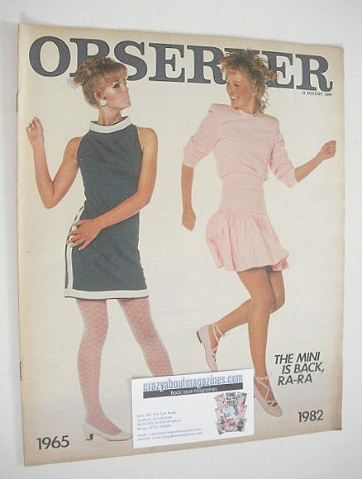 <!--1982-08-15-->The Observer magazine - The Mini Is Back cover (15 August