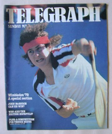 <!--1979-06-24-->The Sunday Telegraph magazine - John McEnroe cover (24 Jun