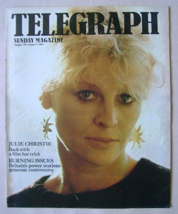 <!--1983-01-09-->The Sunday Telegraph magazine - Julie Christie cover (9 Ja