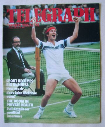 <!--1983-06-12-->The Sunday Telegraph magazine - John McEnroe cover (12 Jun