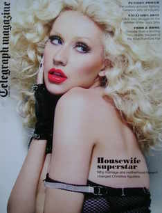 <!--2010-05-08-->Telegraph magazine - Christina Aguilera cover (8 May 2010)