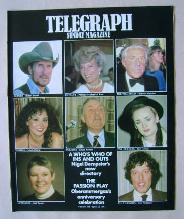 <!--1984-04-22-->The Sunday Telegraph magazine (22 April 1984)