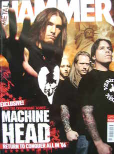 Metal Hammer magazine - Machine Head cover (February 2006)