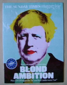 The Sunday Times magazine - Boris Johnson cover (12 June 2016)