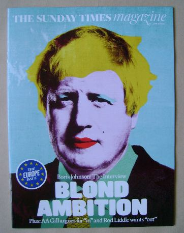 <!--2016-06-12-->The Sunday Times magazine - Boris Johnson cover (12 June 2