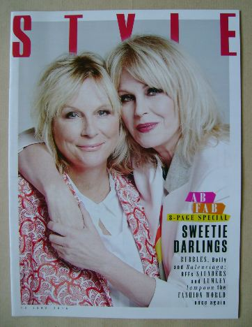 <!--2016-06-12-->Style magazine - Jennifer Saunders and Joanna Lumley cover