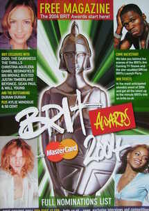 Brit Awards magazine 2004