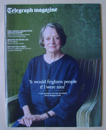 <!--2015-11-07-->Telegraph magazine - Dame Maggie Smith cover (7 November 2