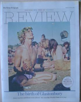 The Daily Telegraph Review newspaper supplement - 4 June 2016 - The Birth of Glastonbury cover