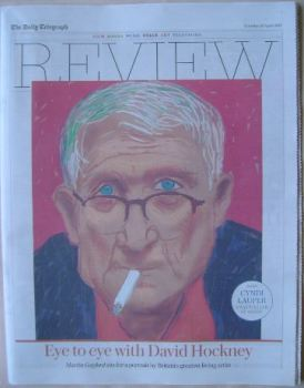 The Daily Telegraph Review newspaper supplement - 23 April 2016 - David Hockney cover
