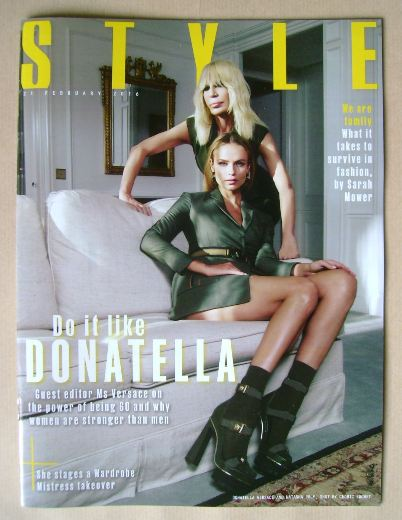 <!--2016-02-21-->Style magazine - Donatella Versace and Natasha Poly cover