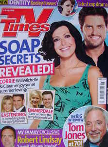 <!--2010-07-03-->TV Times magazine - Kym Marsh and Keith Duffy cover (3-9 J
