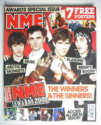 <!--2008-03-08-->NME magazine - NME Awards 2008 cover (8 March 2008)