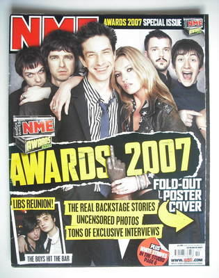 <!--2007-03-10-->NME magazine - NME Awards 2007 cover (10 March 2007)