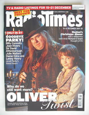 <!--2007-12-15-->Radio Times magazine - Timothy Spall and William Miller co