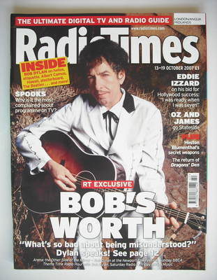<!--2007-10-13-->Radio Times magazine - Bob Dylan cover (13-19 October 2007