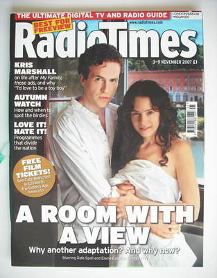 <!--2007-11-03-->Radio Times magazine - Rafe Spall and Elaine Cassidy cover