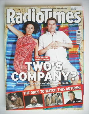 <!--2006-09-02-->Radio Times magazine - Sarah Parish and Peter Capaldi cove