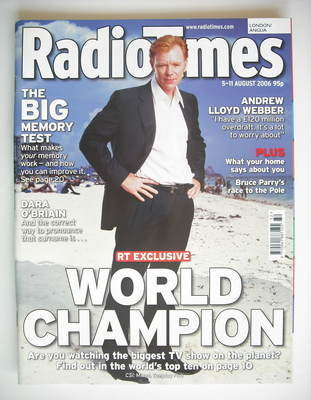 <!--2006-08-05-->Radio Times magazine - David Caruso cover (5-11 August 200