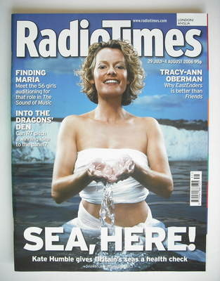 <!--2006-07-29-->Radio Times magazine - Kate Humble cover (29 July - 4 Augu