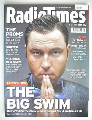 <!--2006-07-15-->Radio Times magazine - David Walliams cover (15-21 July 20