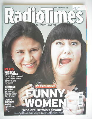 <!--2006-08-12-->Radio Times magazine - Tracey Ullman and Dawn French cover