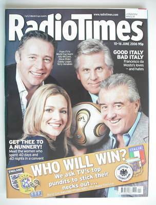 <!--2006-06-10-->Radio Times magazine - Ally McCoist, Steve Rider, Gabby Lo