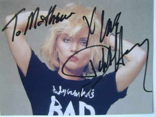 Debbie Harry autograph