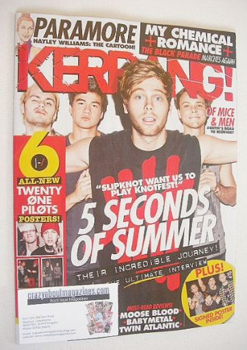 <!--2016-07-30-->Kerrang magazine - 5 Seconds Of Summer cover (30 July 2016
